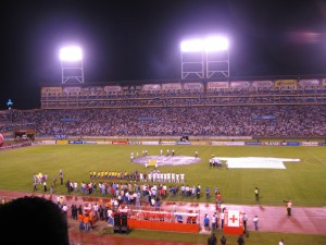 Take a good look at Estadio Olympica. Next time you'll see it is at a bar.