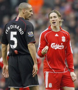 Torres to Ferdinand: Take a seat and I'll beat up Johnny Evans
