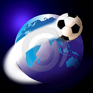 "My brother Mark wanted to make sure this image connoted soccer instead of ""NASA."" Here you go Mark. The El De Barge of soccer globe pictures. The David Caruso of soccer globe pics. The Color Me Badd of soccer globe pics. Happy?"