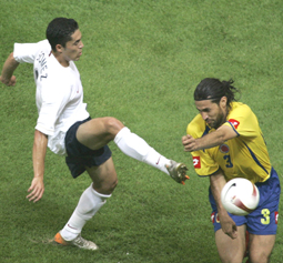 Gomez got a cup of coffee with the USMNT in the 2007 Copa America