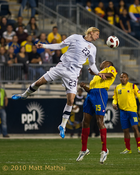 Brek Shea, here for the USMNT....(photo credit: Matt Mathai)