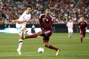 Feilhaber in his last time he tugged on the US kit...