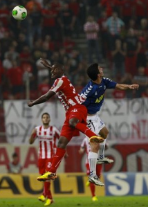 Joel Campbell is on the rise for Olympiakos this year.