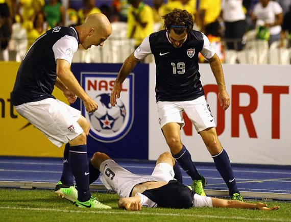 Get up man! We got another one against Jamaica! (Brad Evans rides tonight!)