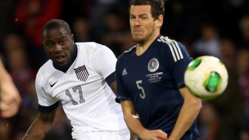 One of the few times Altidore saw the ball today.