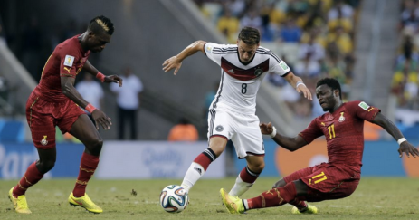Ozil on the approach against Ghana.